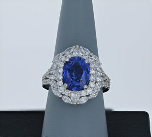 Simon G Sapphire and Diamond Ring in 18K White Gold LR2378