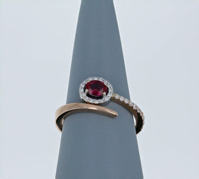 Simon G Ruby and Rose Gold Ring LR2335-R