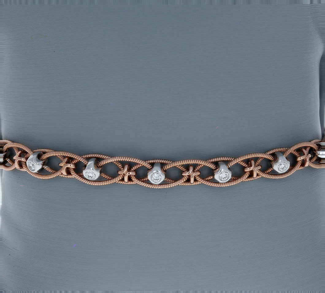 Simon G Diamond and Rose Gold Bracelet