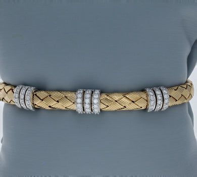 Simon G Diamond and Yellow Gold Bangle LB2090-Y