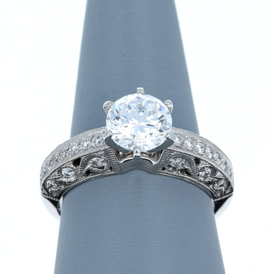 Simon G LP1239 Diamond Engagement Ring in Platinum