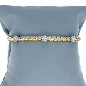 Simon G LB2091-Y Diamond Stacking Bracelet in Yellow Gold