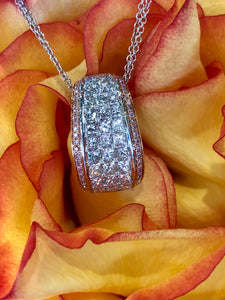 Simon G MP1902 Diamond Pendant in White and Rose Gold