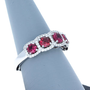 Simon G MR2630 Ruby and Diamond Ring in White Gold