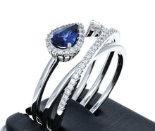 Simon G Sapphire and Diamond Ring in 18K White Gold LP2266