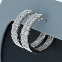 Simon G Diamond Hoop Earrings in 18K White Gold LE4391