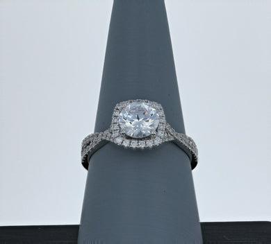 Simon G Engagement Ring Semi Mount in 18K White Gold MR468