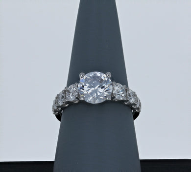 Simon G Engagement Ring Semi Mount in 18K White Gold TR394