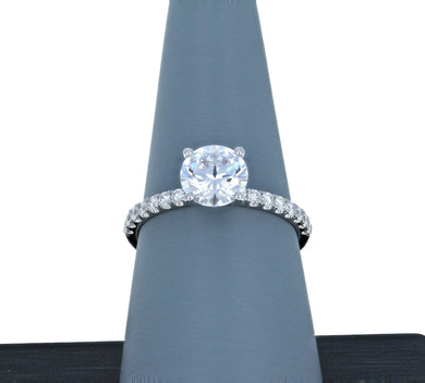 Simon G Engagement Ring Semi Mount in 18K White Gold LR1083