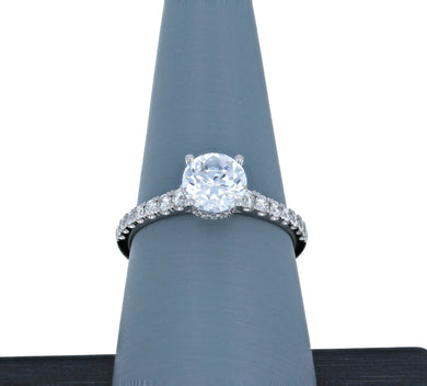 Simon G Engagement Ring Semi Mount in 18K White Gold LR2668
