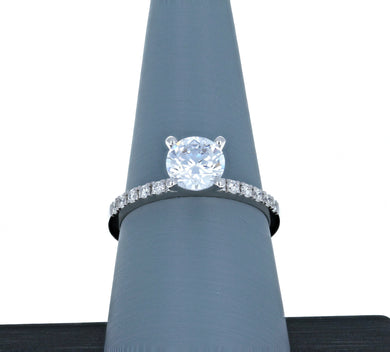 Simon G Engagement Ring Semi Mount in 18K White Gold MR1686
