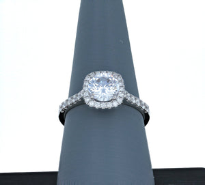 Simon G Engagement Ring Semi Mount in 18K White Gold MR3066