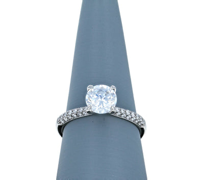 Simon G Engagement Ring Semi Mount in 18K White Gold TR431-A
