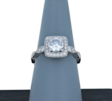Simon G Engagement Ring Semi Mound in 18K White Gold TR704