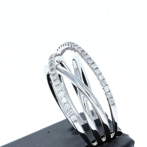 Simon G Contemporary Diamond Ring in 18K White Gold MR2326