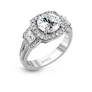 Simon G TR484 Diamond Engagement Ring in White Gold