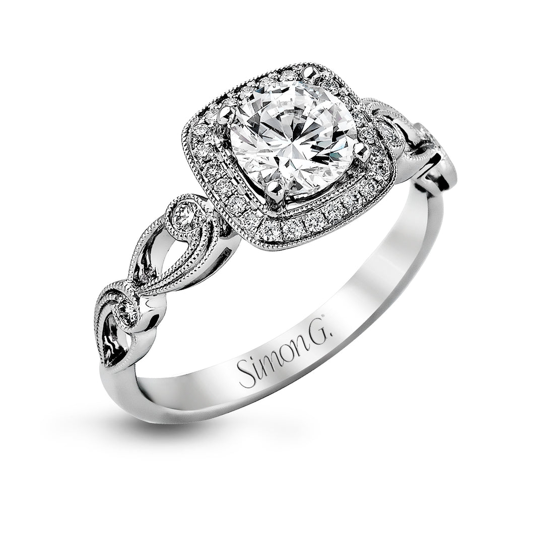 Simon G TR526 Diamond Engagement Ring in White Gold