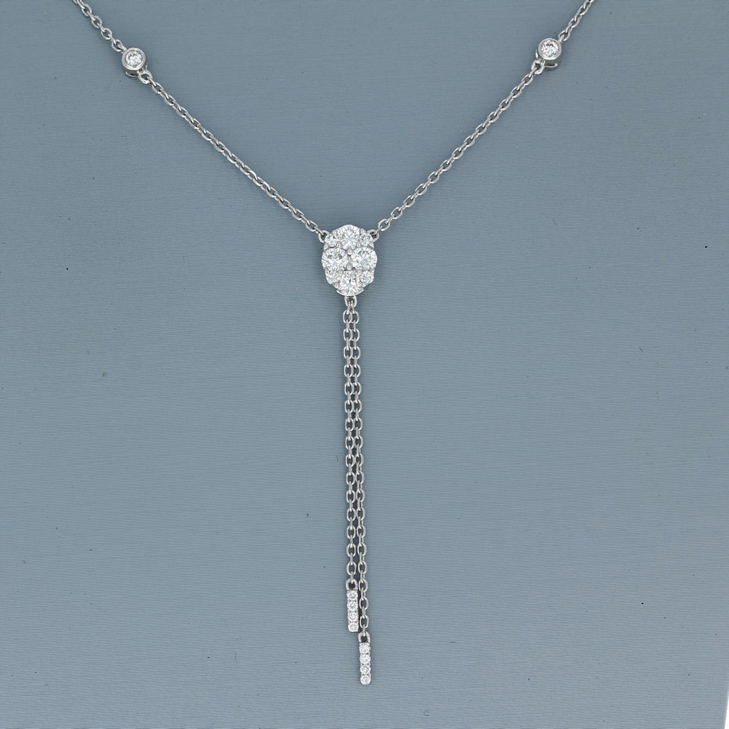 Uneek Diamond Fashion Necklace in 18K White Gold
