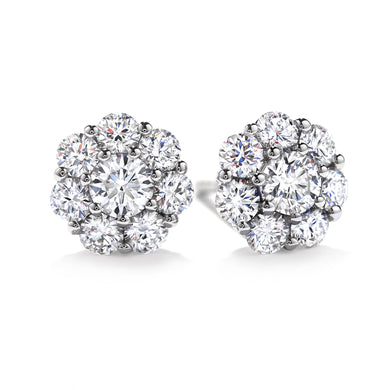 Hearts On Fire Beloved Diamond Stud Earrings 1.10 Total Carats in 18K White Gold