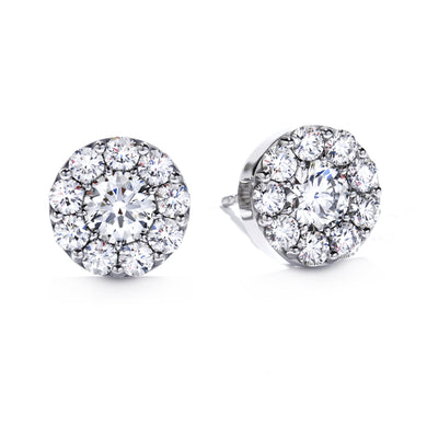 Hearts On Fire Fulfillment Stud Earrings 1.00 Total Carats in 18K White Gold