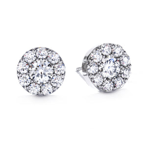 Hearts On Fire Fulfillment Stud Earrings .47 Total Carats in 18K White Gold