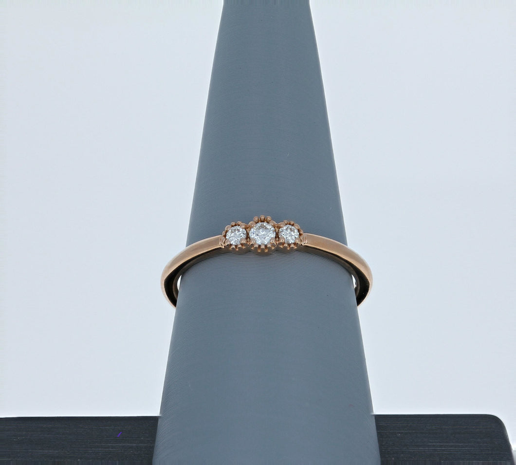 Hayley Paige for Hearts On Fire Rose Gold Behati Sweetheart Band