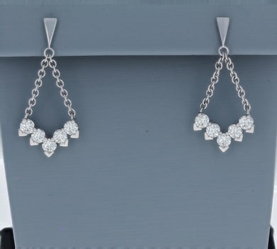 Hearts On Fire White Gold Aerial Diamond V Drop Earrings
