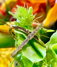 Hearts On Fire Lorelei Criss Cross Ring .68 total carats in 18K in White and Yellow Gold