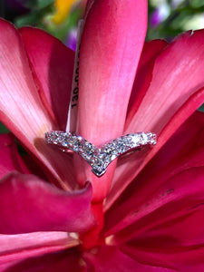 Hearts On Fire Triplicity Single Pointed Diamond Ring .78 total carats in 18K White Gold