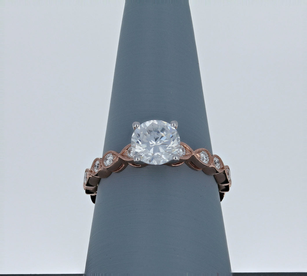 Simon G Engagement Ring Semi Mount Rose Gold LR2601