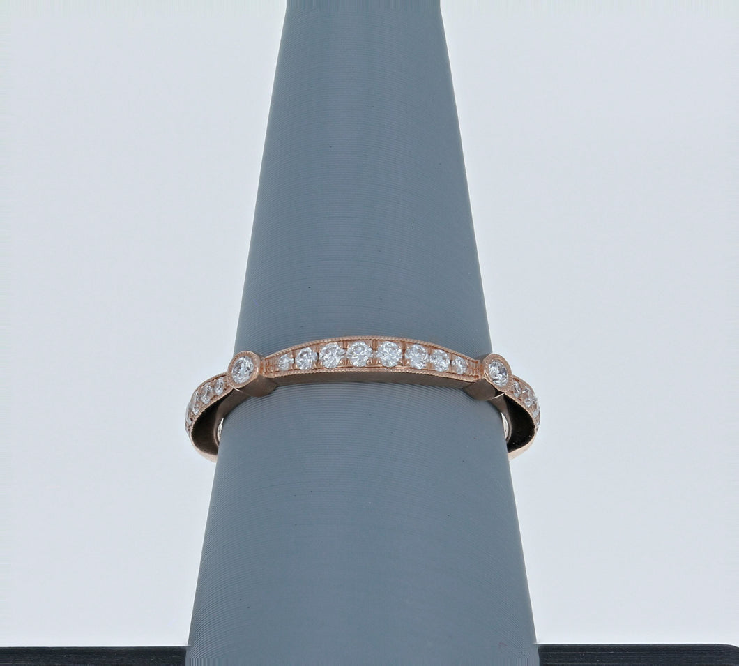 Simon G Wedding Band Rose Gold MR1546