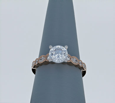 Simon G Engagement Ring Semi Mount in Rose Gold MR2399