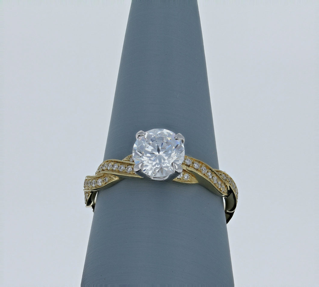 Simon G Engagement Ring Semi Mount in Yellow Gold MR1498