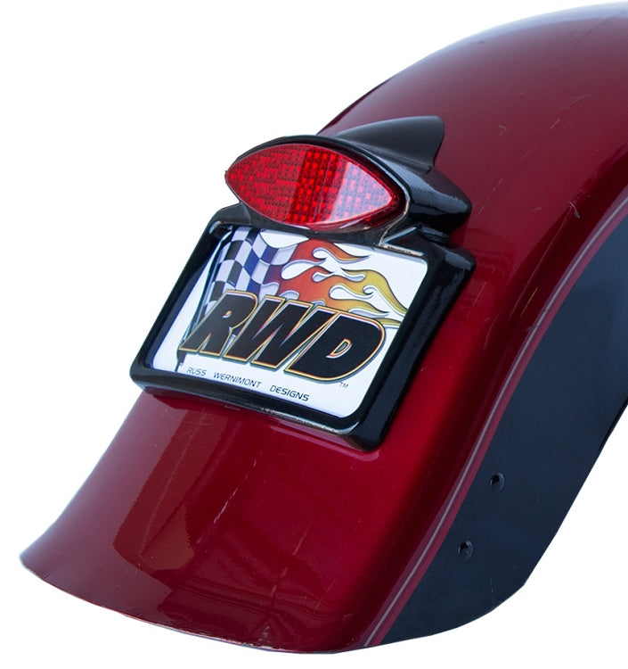 Cat Eye Tailight/Signal light with Licence Plate Frame