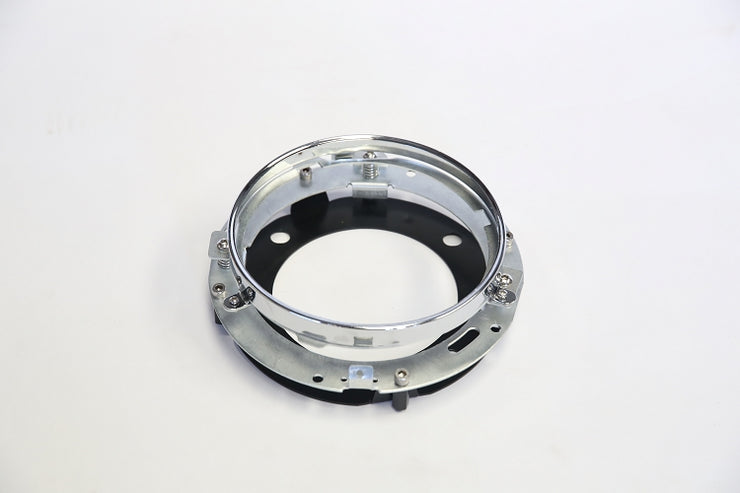 "7"" Round Headlight Ring and Adapter for FXR Fairing"