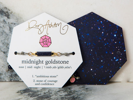 Midnight Goldstone Gemstone Choker