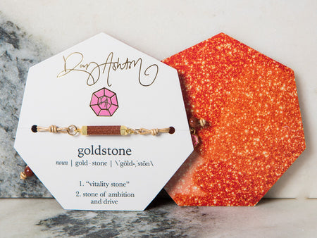 Gemstone Bracelet Midnight Goldstone