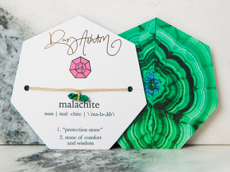 Gemstone Bracelet Malachite