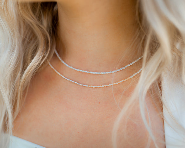 Eloise Freshwater Pearl Necklace- Classic White