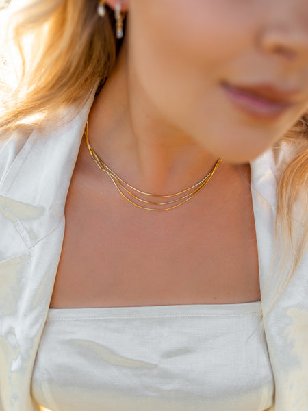 Sierra Snake Chain Necklace