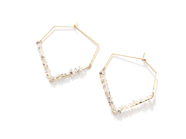 Vera Herkimer Diamond Earrings
