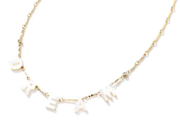 Custom Pearl Letter Chain Necklace