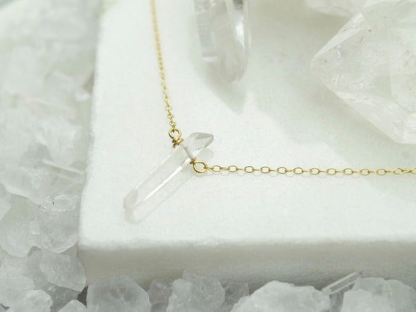 Dainty Quartz Necklace