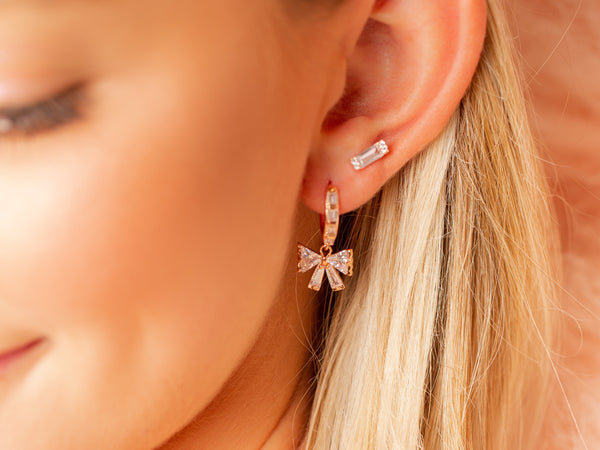 Rose Gold Lennox Stud Earring