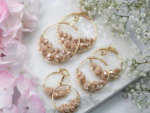 Apricot Cluster Earring