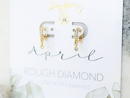 Aquamarine Huggie Earring - March