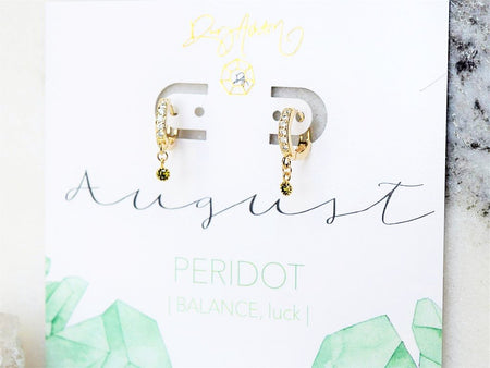 Citrine Huggie Earring - November