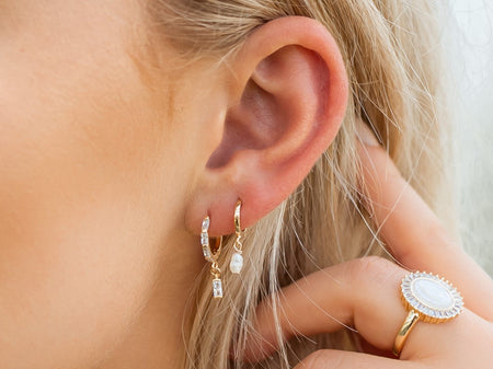 Angelfish Cluster Earring