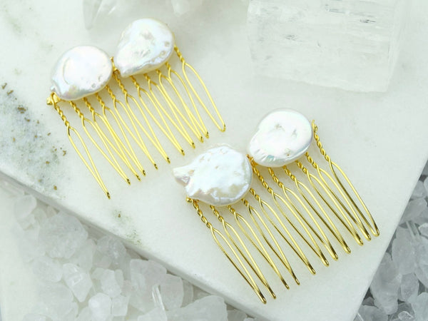 Baroque Pearl Mini Hair Comb