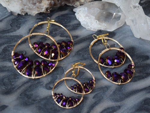 Merlot Cluster Earrings